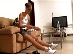 Shy Natasha teen from france in my house