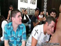 Bunch of drunk gay guys go crazy in club part6