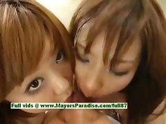 Nao Ayukawa and Rio Hanasaki hot babe naughty asian schoolgirls fuck after school