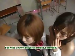 Nao Ayukawa and Rio Hamaski hot babe lovely asian babes enjoys fucking with their students