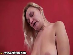 Nasty old whore going crazy part1