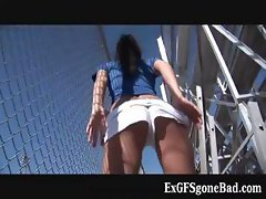 Aroused female football player  part6