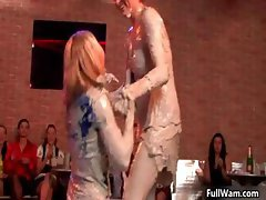 Nasty euro babes going crazy fighting part5