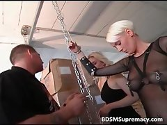 Sexy ultra blonde with big boobs is tied part6
