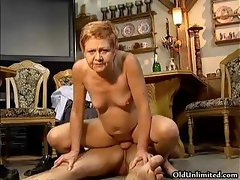 Nasty mature housewife riding a younger part4