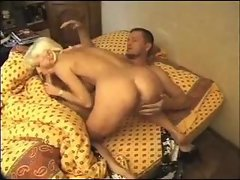 Pierced milf wakes him up with hot oral
