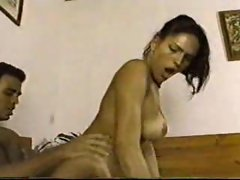 Tranny cocksucker bends over for him