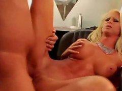 Slender bimbo pornstar hottie boned