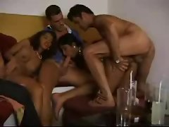 Latina chicks in a fun foursome