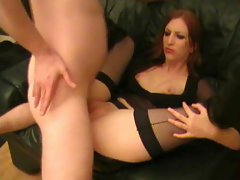 Goth babe lets him have her asshole