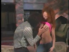 Redhead fucked deeply and given a creampie cumshot
