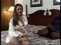 Horny brunette bitch and her anal scene
