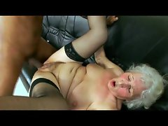Granny taking black cock from young guy