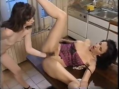 Milf with brown hair fisted in the ass