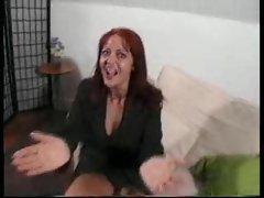 British slut with red hair is boned hard