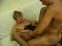 Big cock fucking her pussy and her asshole