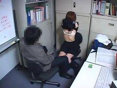 Japanese secretary made to take his cock