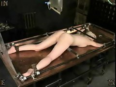 She gets an enema and it is messy