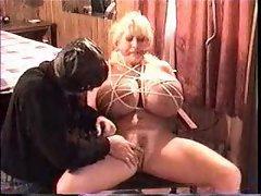 Humongous boobs slut likes bondage