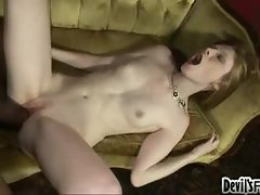 Hard black dick fucking the tiny redhead