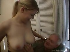 British babe with big ass screwed by old dude