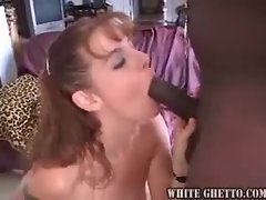 Slut sucks black dick and gets pounded