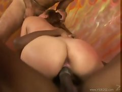Two cocks want to use her and she loves it