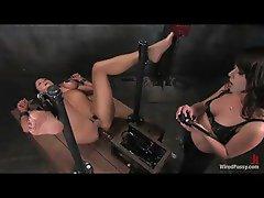 Hottie having fun with electro shock