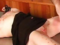 Hot wax and thigh slapping for the slut