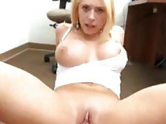 Hottie with big knockers loves his cum