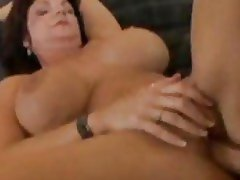 The big tit milf is opened by a big cock