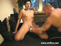 Extreme amateur brutally fist fucked in her huge pussy