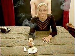 Smoking Blonde in doggystile action!