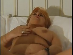BBW granny pleases herself with dildos
