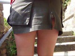 unzipped skirt, pantieless in swanage
