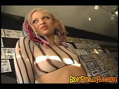 Janna T. - Punk princess flashing her gash in public Part 2