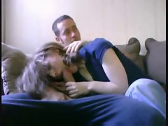 Aunt&amp,#039,s friend give me a blowjob with mom in the kitchen!