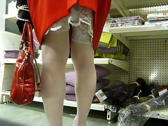 crossdresser in the supermarket
