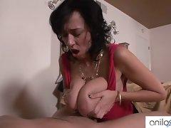 Alia Janine huge tits jizzed