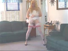 Crossdresser dance tease