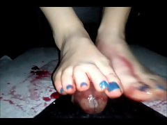 footjob penis and jelly
