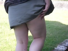 My sexy wife&amp,#039,s panties being shown at Titchfield abbey