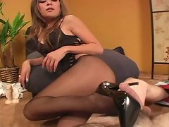 high heels footjob
