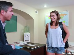 Presley wakes up in class and gets fucked by her teacher