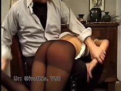Spanking in pantyhose