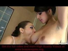 Celeste Star &amp_ Layla Rose In Hot Lesbian Scene