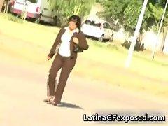 Latin gf slut posing