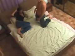 Horny lovers get naked and do blowjob
