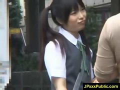 Hot Young Japanese babes Fuck In Public video-10