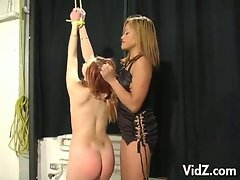 Asian mistress whips and tortures her slave